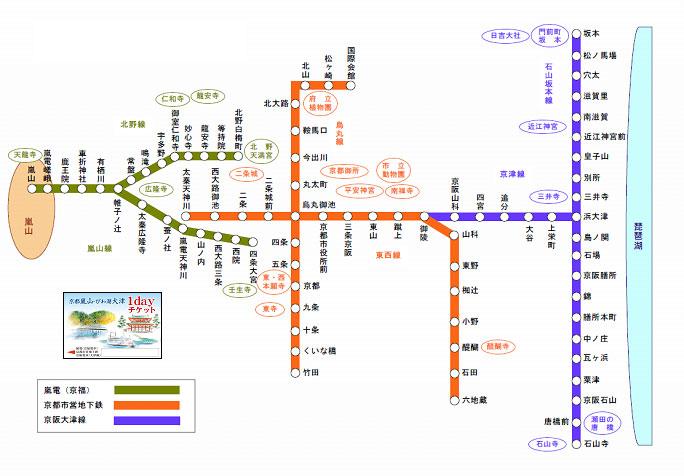 京都市交通局:京都嵐山・びわ ...