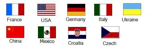 The Flags of Sister Cities Countries.